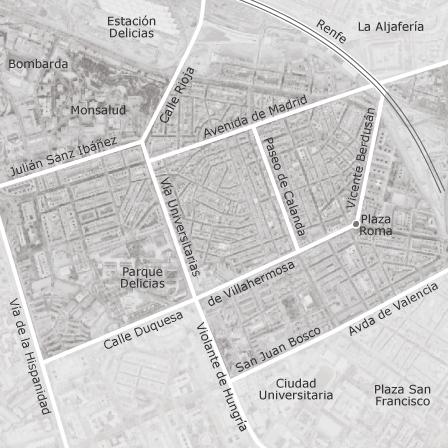 Mapa De Zaragoza Ciudad.Mapa De Delicias Zaragoza Idealista