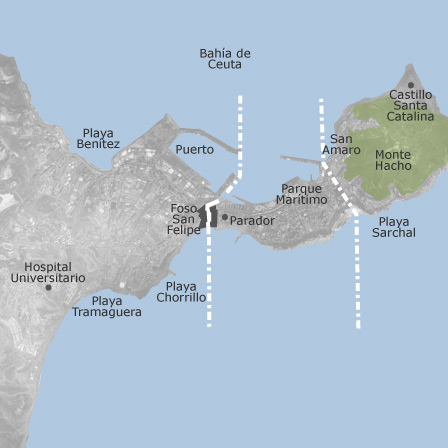 Map of Ceuta: homes for sale — idealista Ceuta Map on